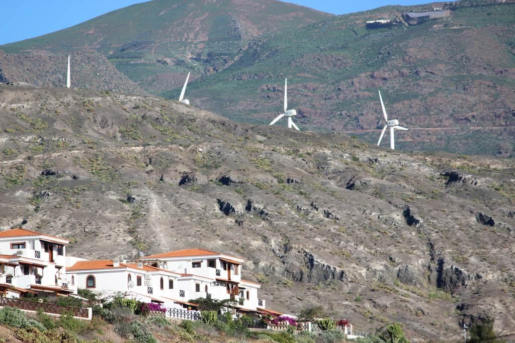 Aerogeneradores en Agaete