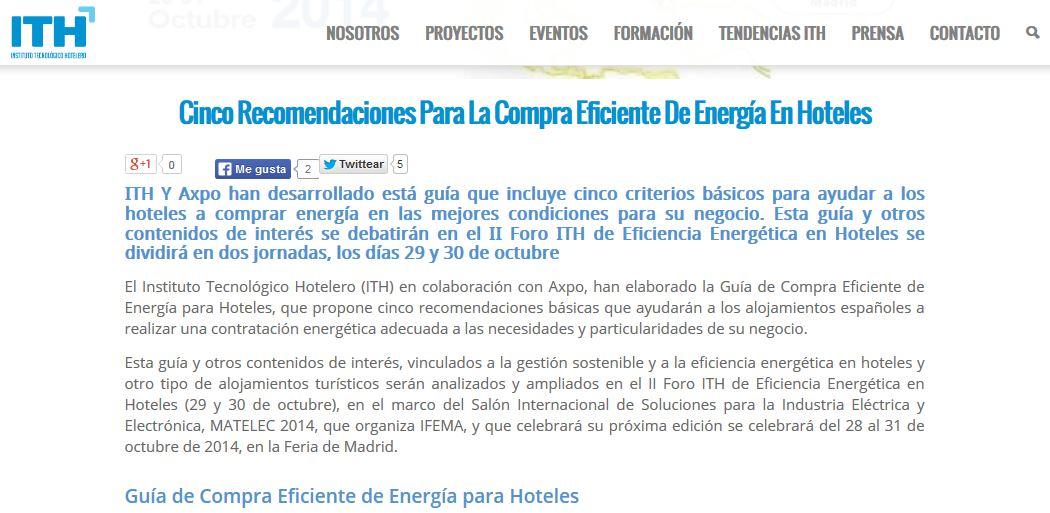 Captura articulo ITH compra eficiente energía