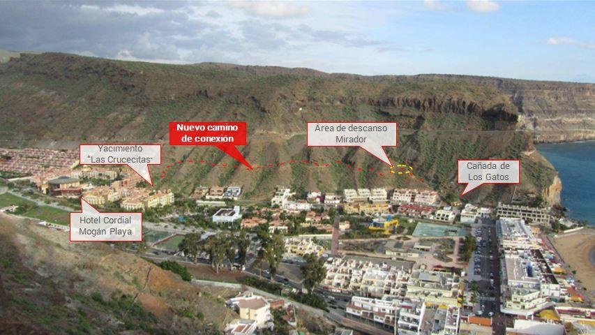 Recorrido del nuevo camino de conexión entre Las Crucecitas y la Cañada de Los Gatos