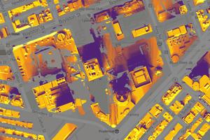 Imagen termográfica por satélite | Fuente: Google