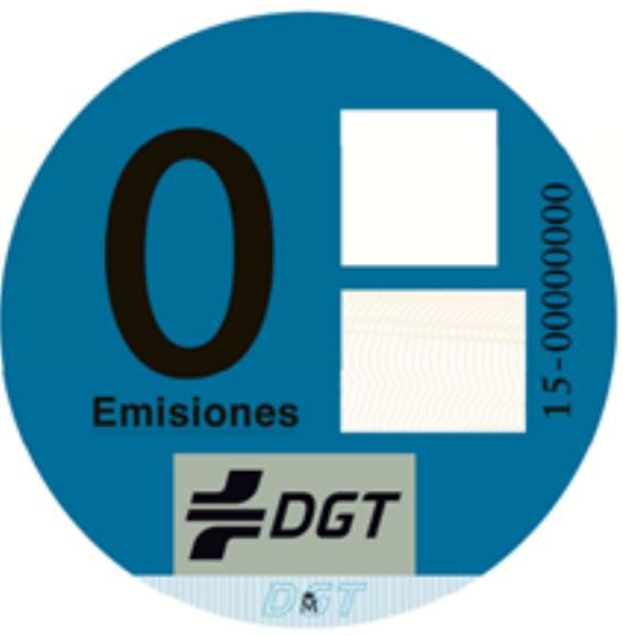 Distintivo DGT vehículos Cero emisiones