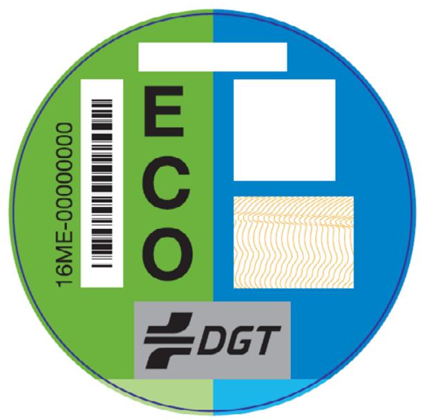 Distintivo DGT vehículos ECO
